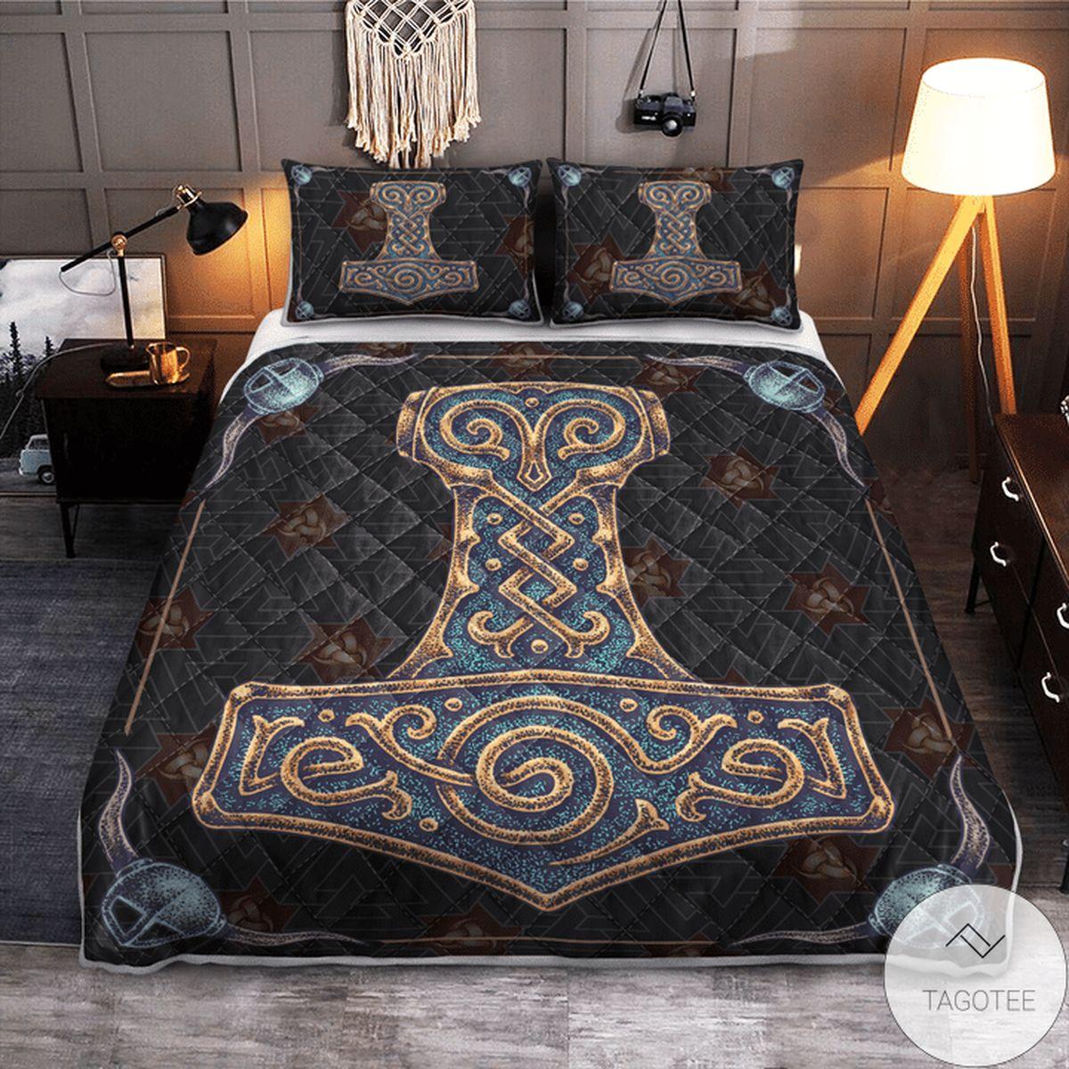 Luxury Viking Hammer - Viking Quilt Bedding Set