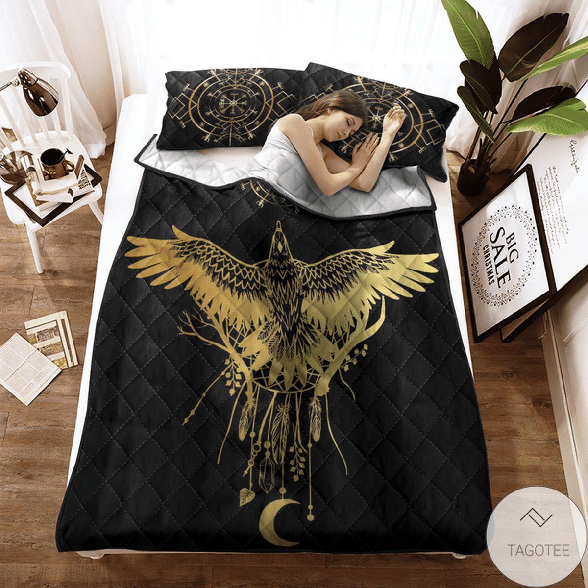 Viking Raven Quilt Bedding Set x