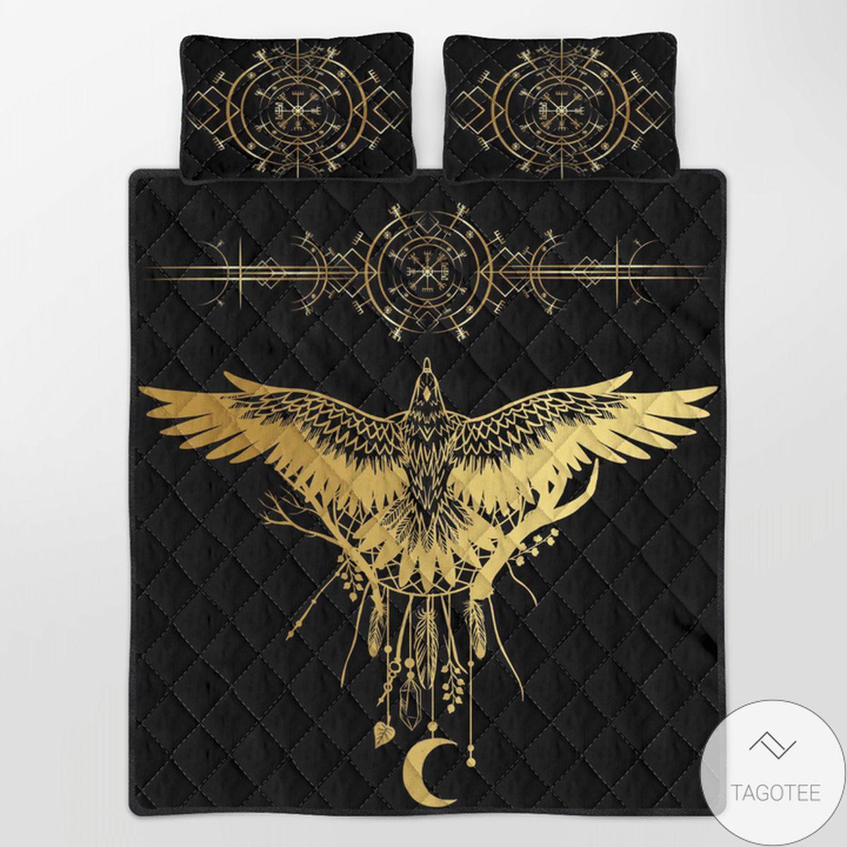 Viking Raven Quilt Bedding Set