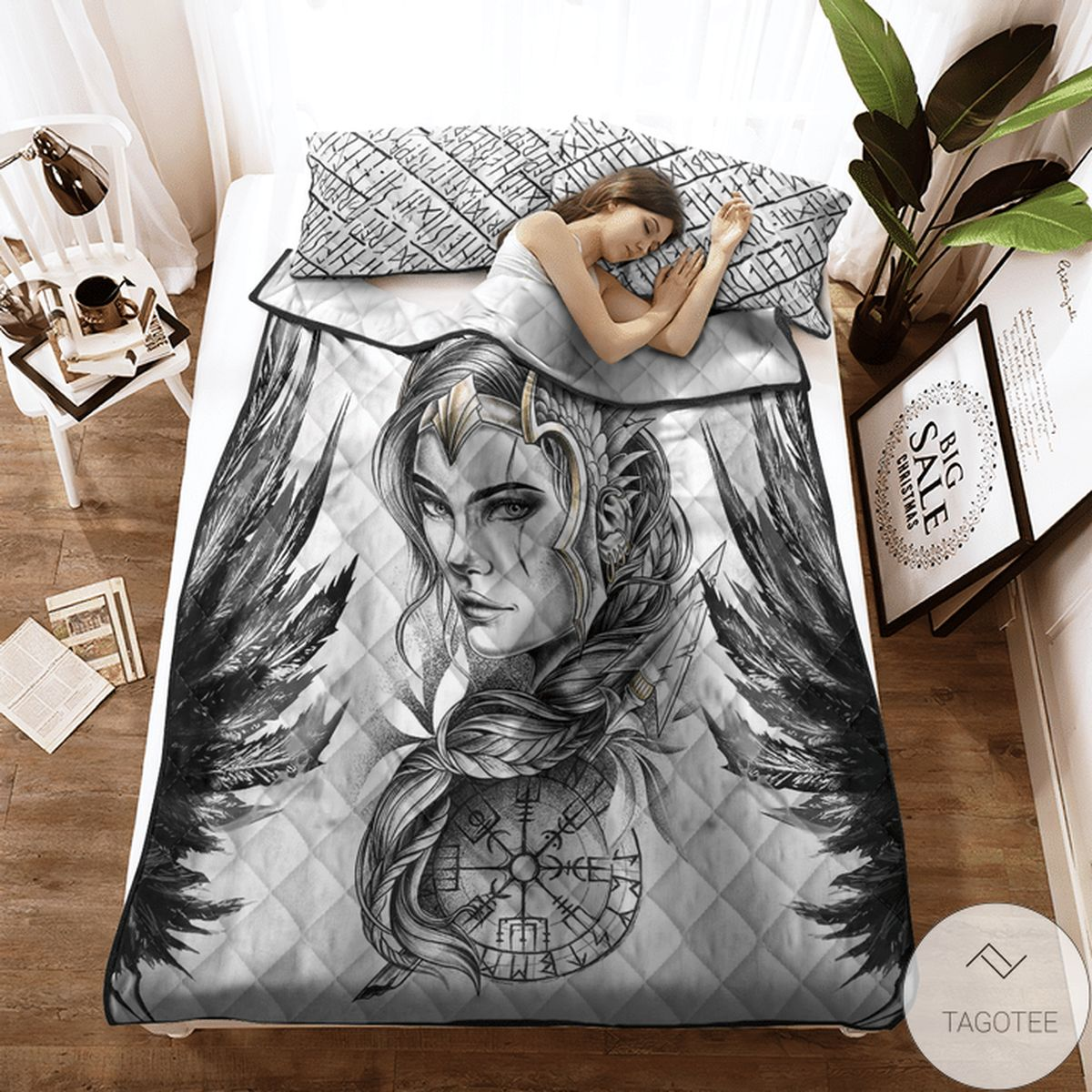 Father's Day Gift Viking Valkyrie Quilt Bedding Set