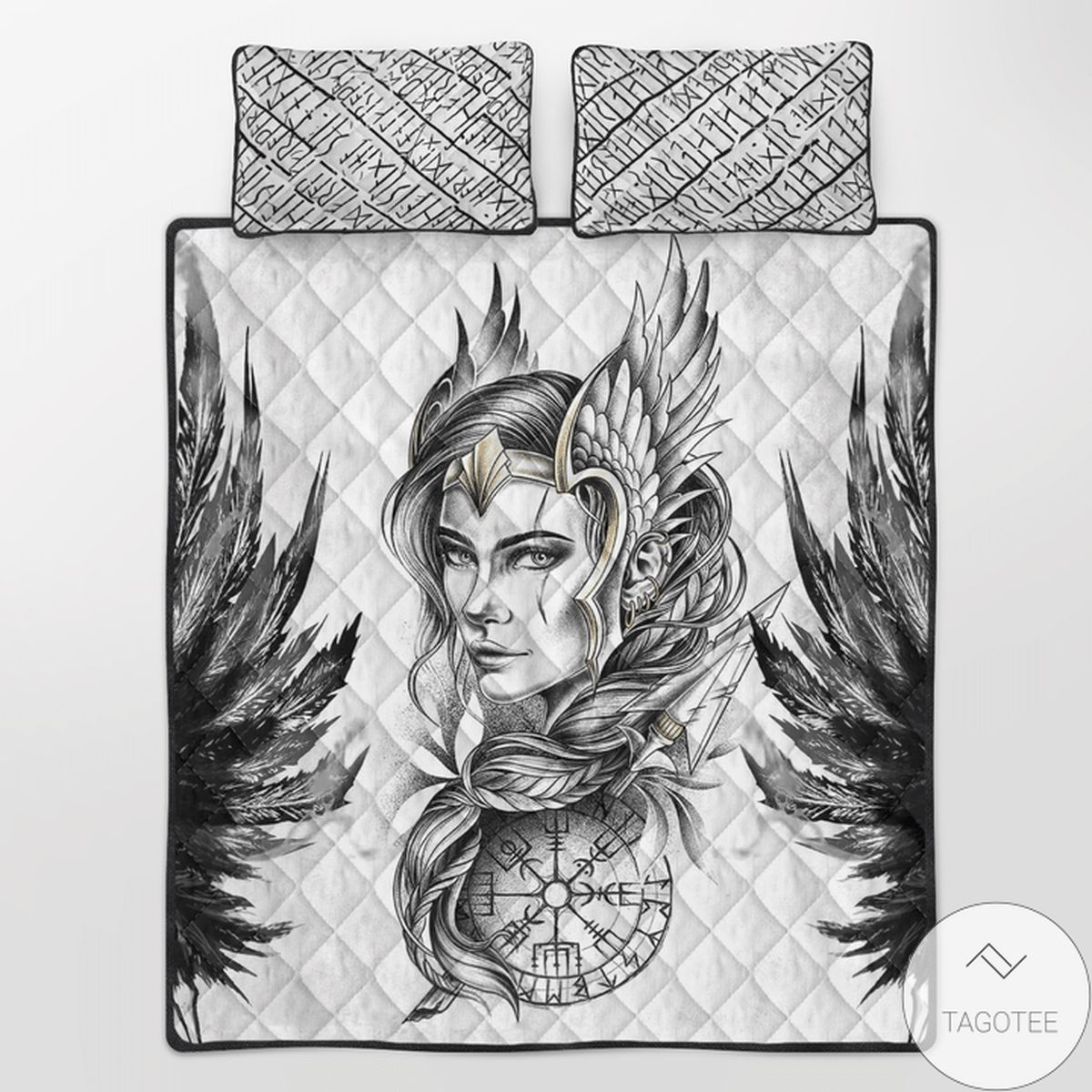 Funny Tee Viking Valkyrie Quilt Bedding Set
