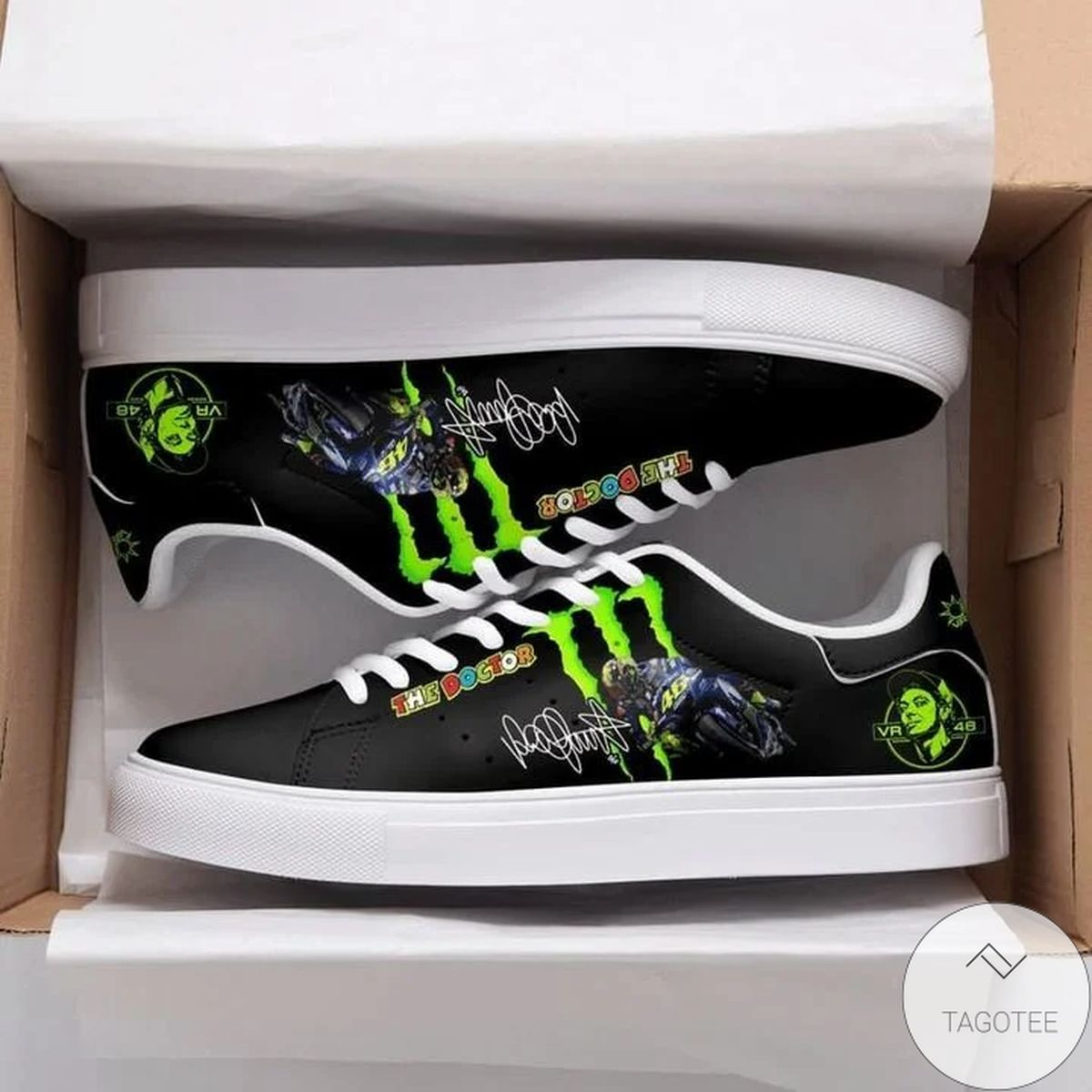 Vr46 Black Stan Smith Shoes