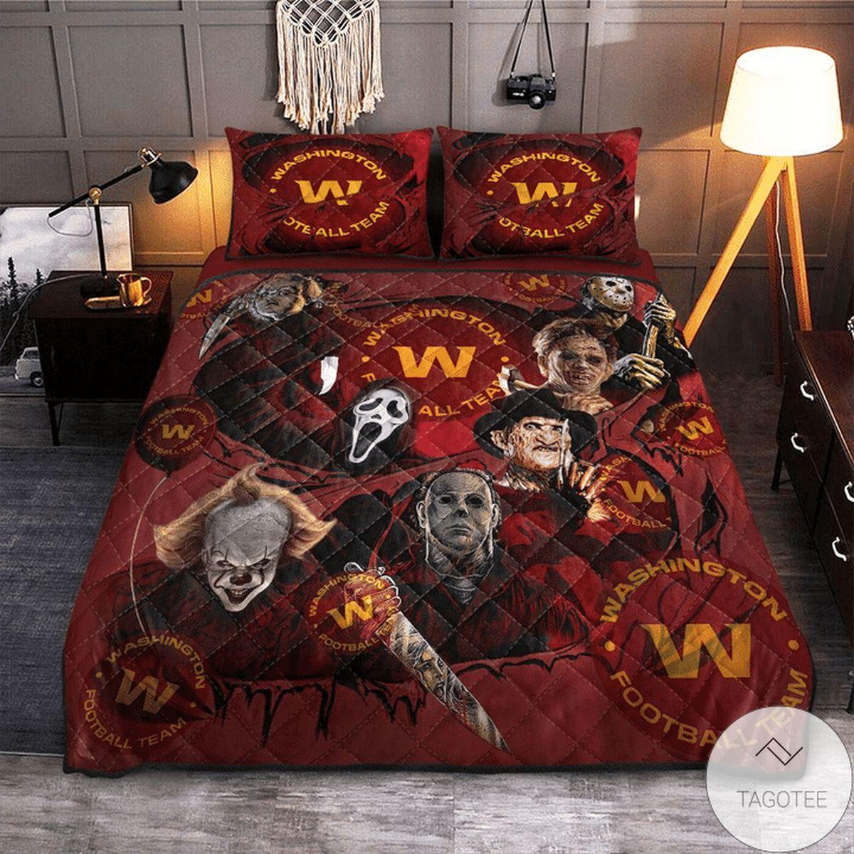 Washington Football Team Horror Mv Quilt Bedding Set
