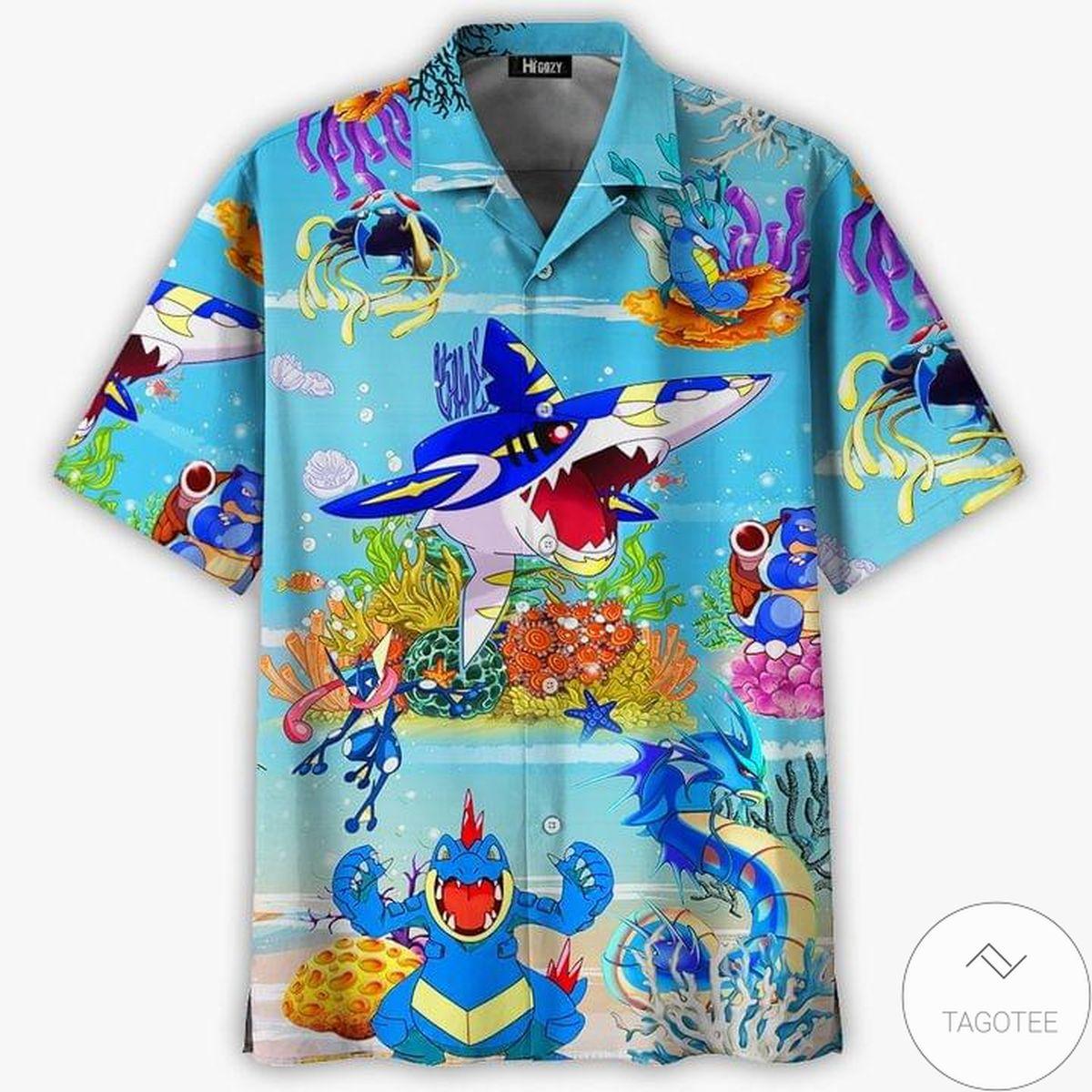 Amazing Water-type Pokemon Hawaiian Shirt