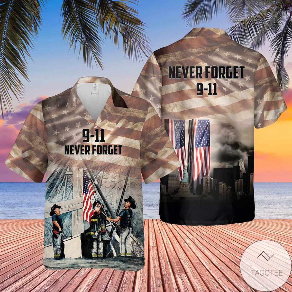 We Will Never Forget 9.11 Hawaiian Shirt