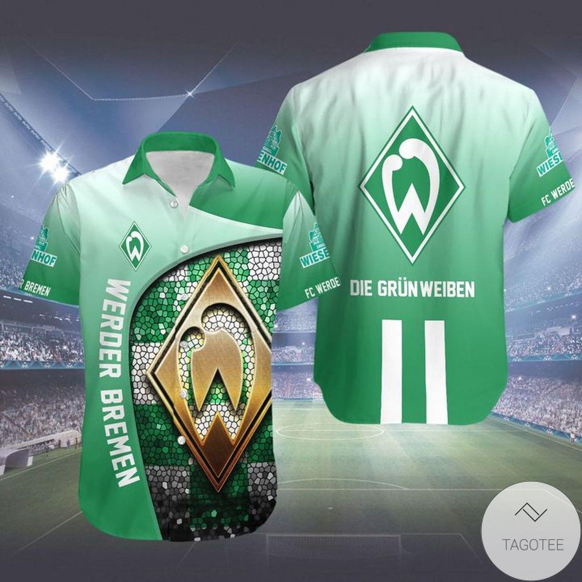 Great artwork! Werder Bremen Fc Hawaiian Shirt
