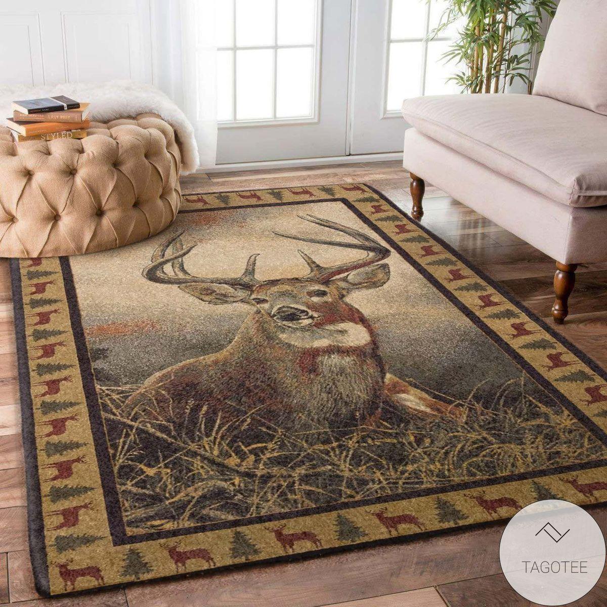 Whitetail Deer Area Rug