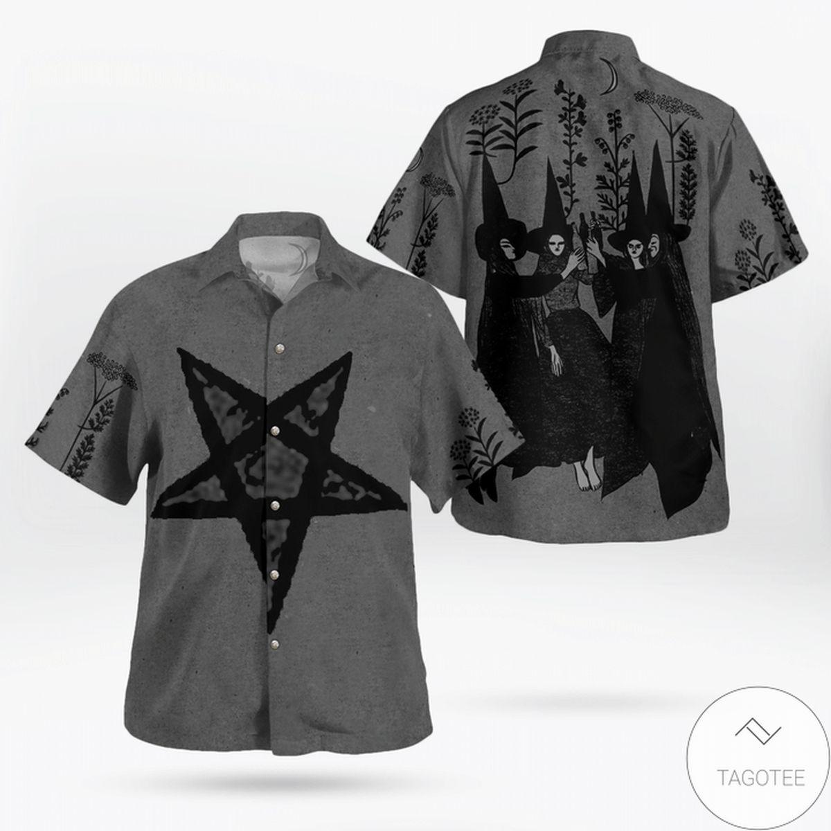 Witches Satan Halloween Hawaiian Shirt