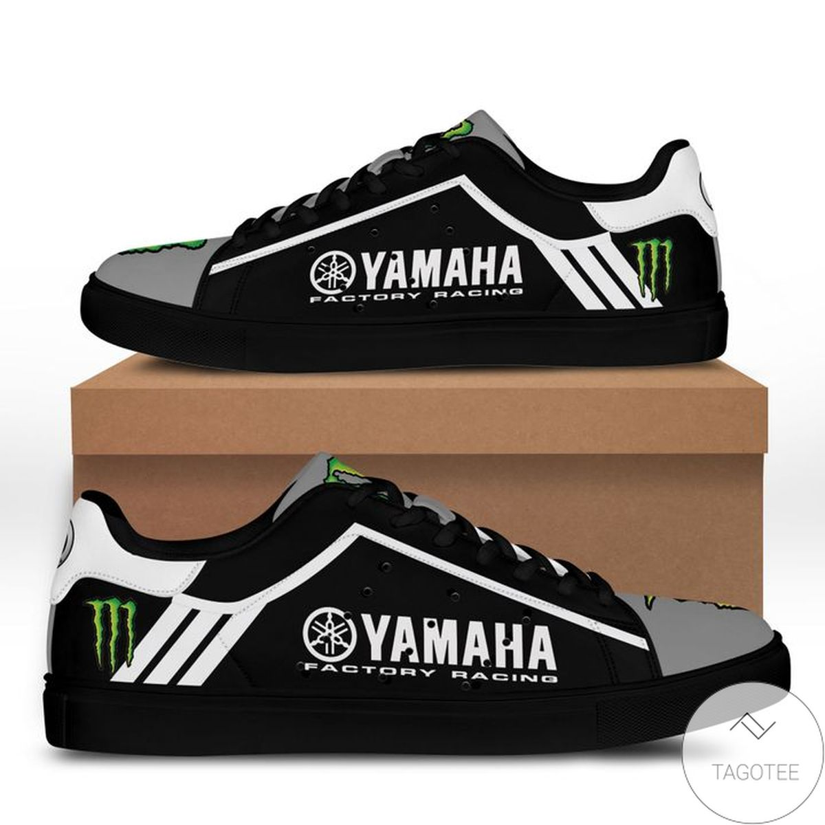 Yamaha Racing Monster Black Stan Smith Shoes