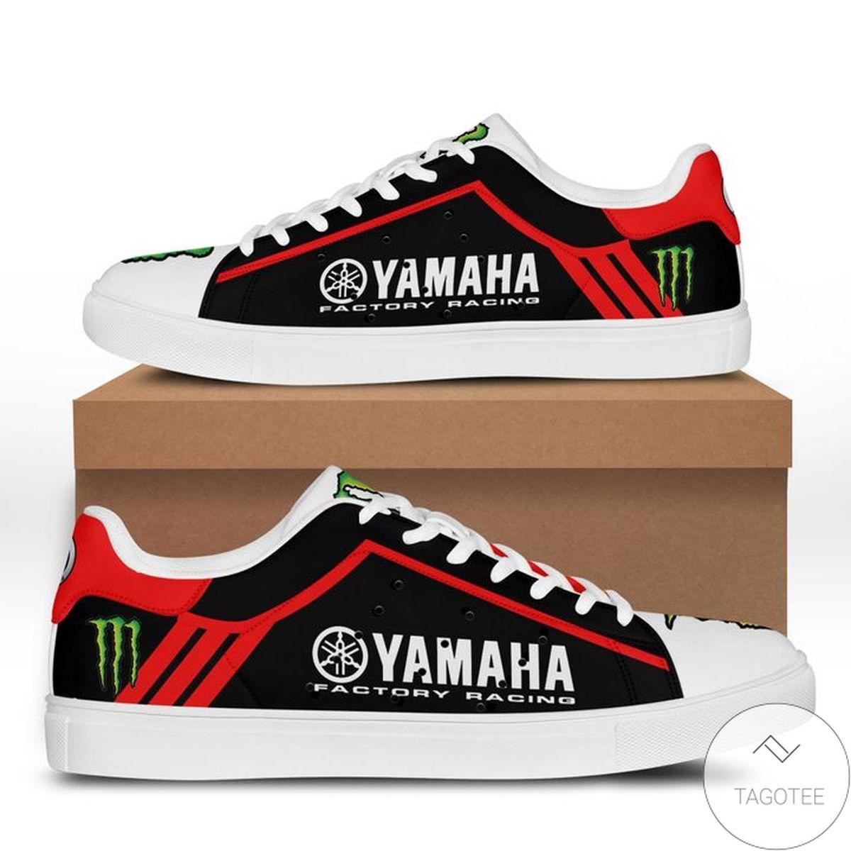 Funny Tee Yamaha Racing Red Black Stan Smith Shoes