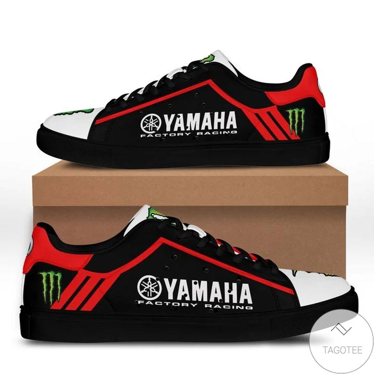 Yamaha Racing Red Black Stan Smith Shoes