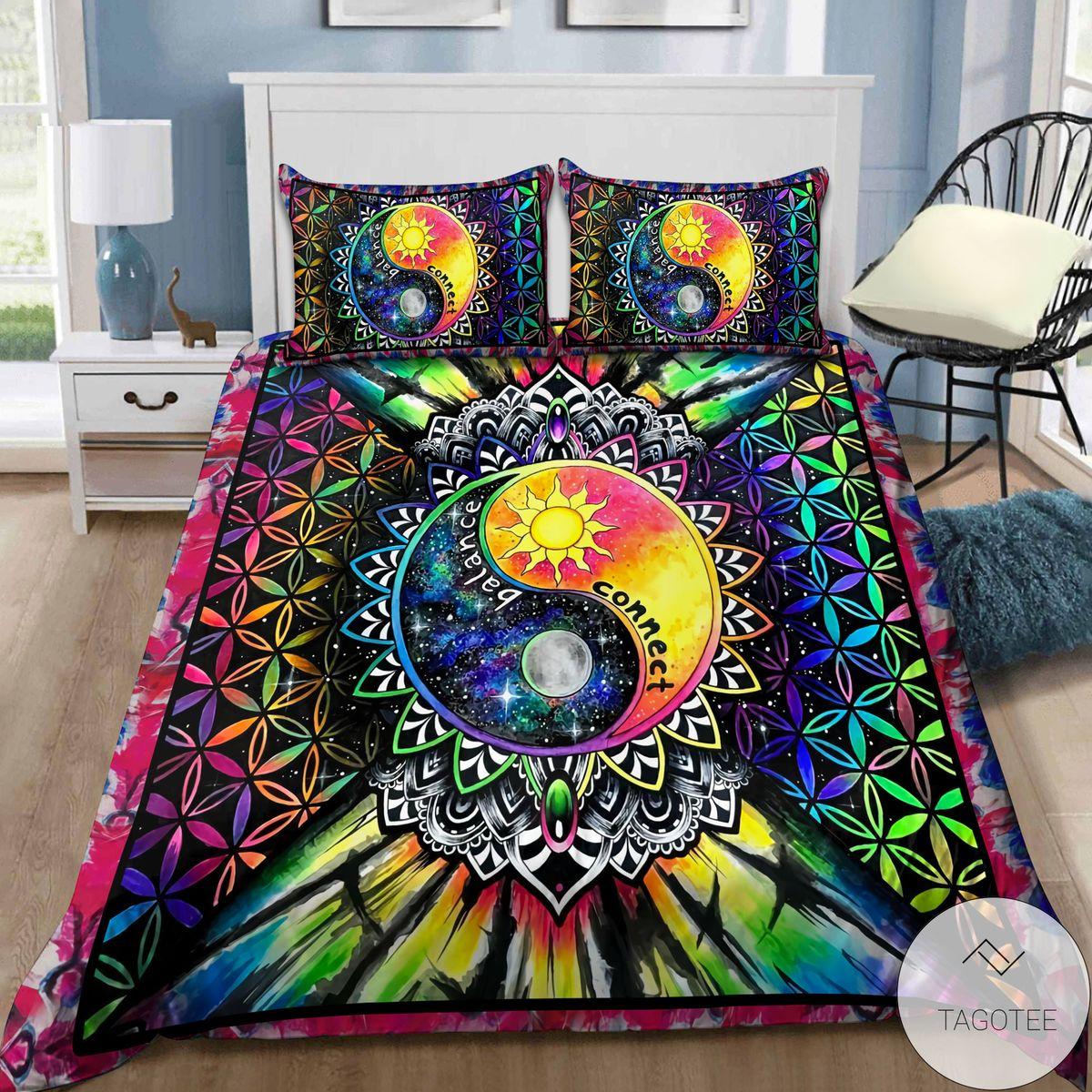 Ying-Yang-Hippie-Balance-Connect-Bedding-Set