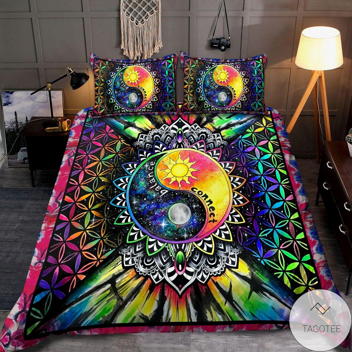 Ying Yang Hippie Balance Connect Bedding Setx