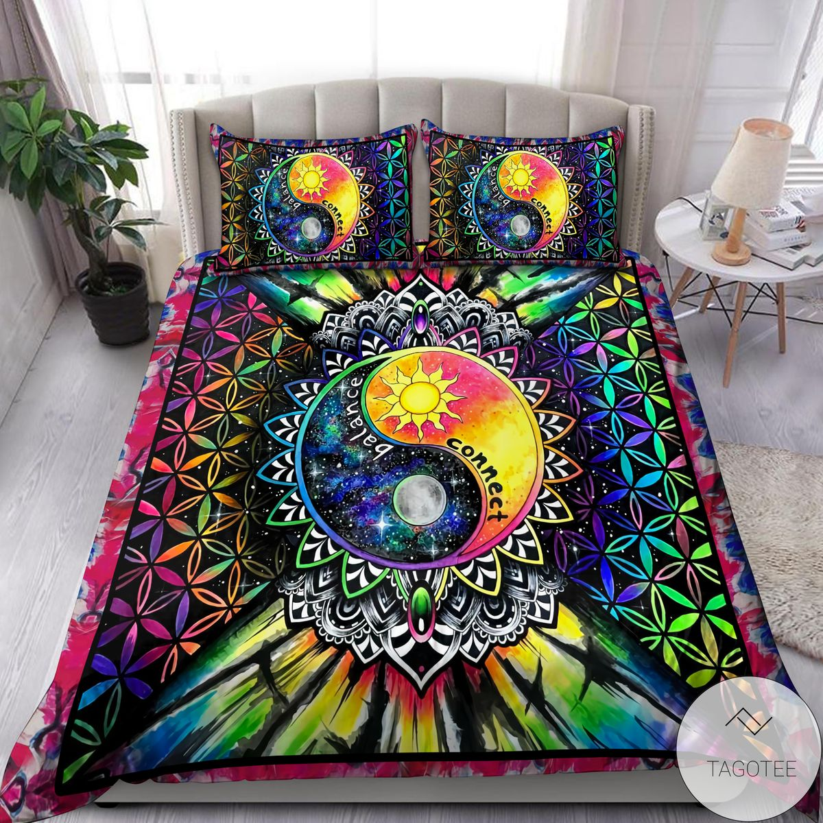 Only For Fan Ying Yang Hippie Balance Connect Bedding Set