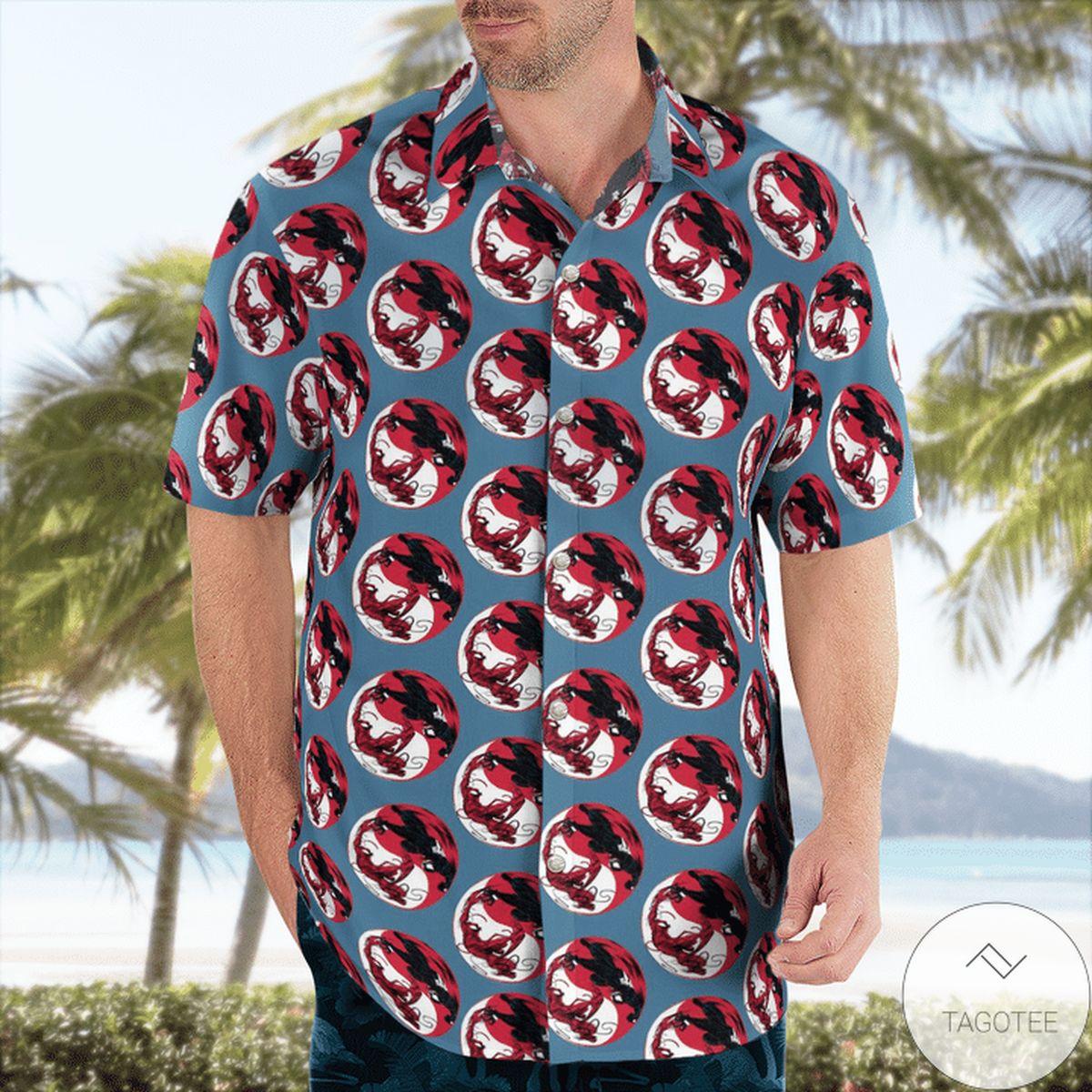 Hot Deal Ying Yang Venom Carnage Hawaiian Shirt