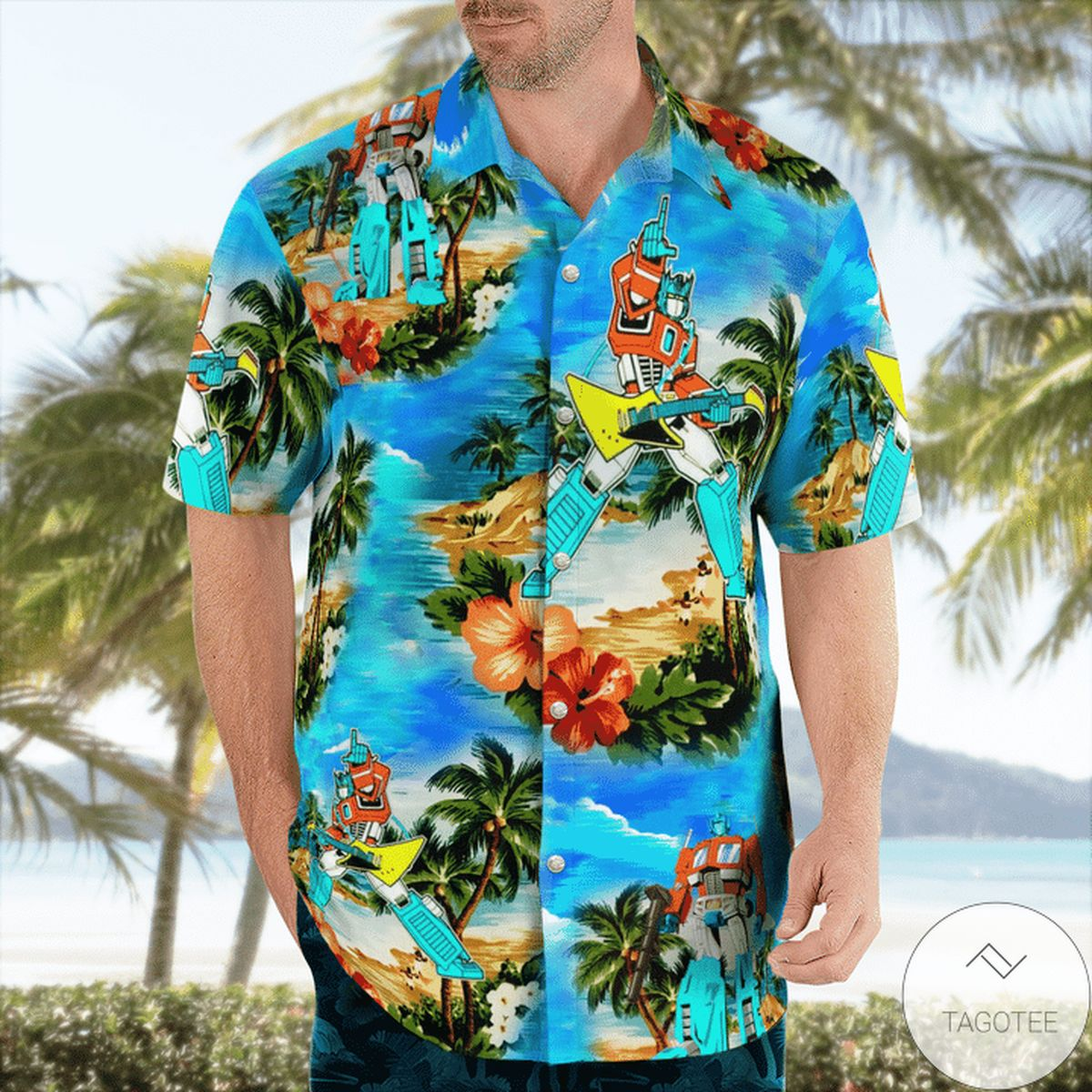 You've Got The Touch Transformer 80s Hawaiian Shirt