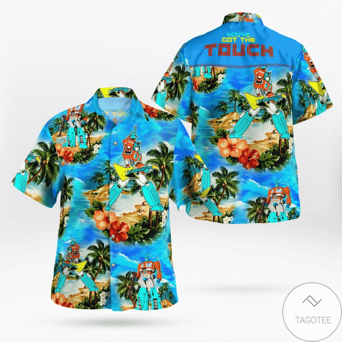 Ships From USA You've Got The Touch Transformer 80s Hawaiian Shirt