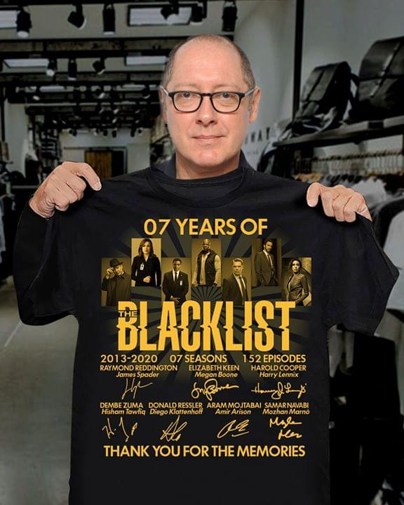 07 Years of Blacklist signatures Thank you for the memories shirt 0