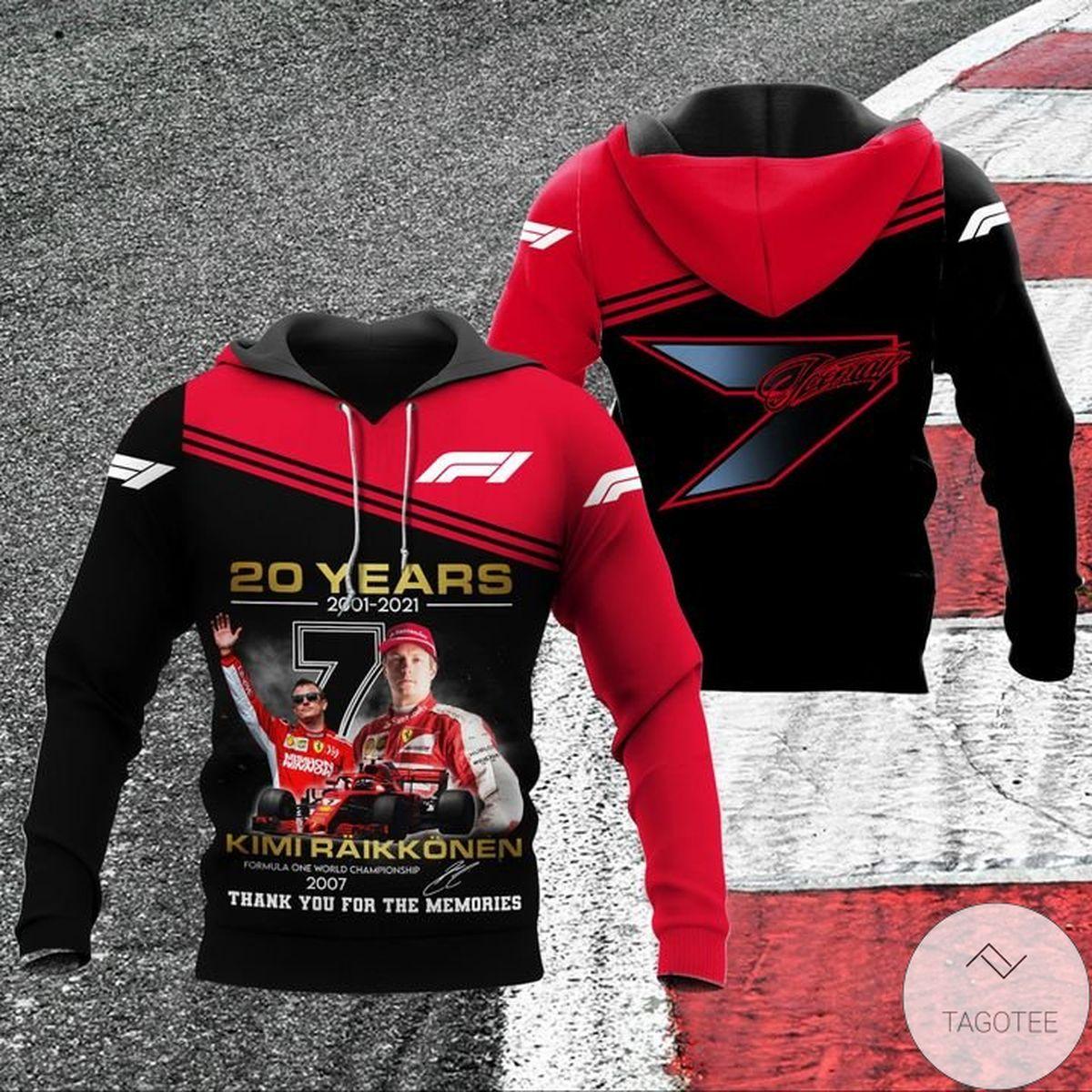 20 Years 2001-2021 Kimi Raikkonen Hoodie