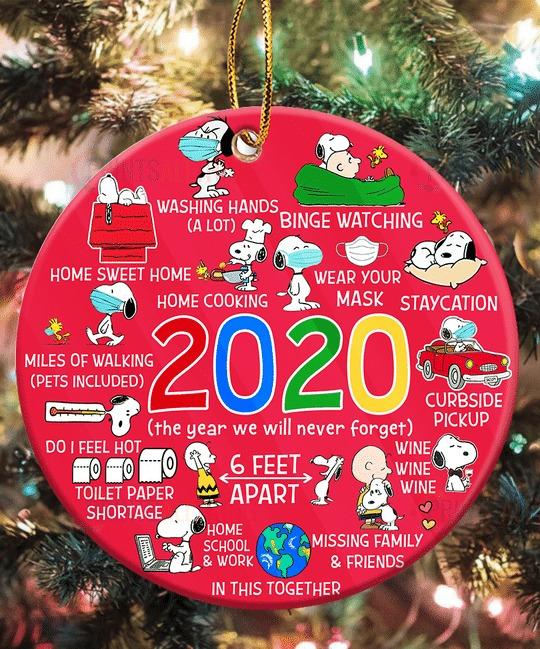 2020 Snoopy Christmas Ornament