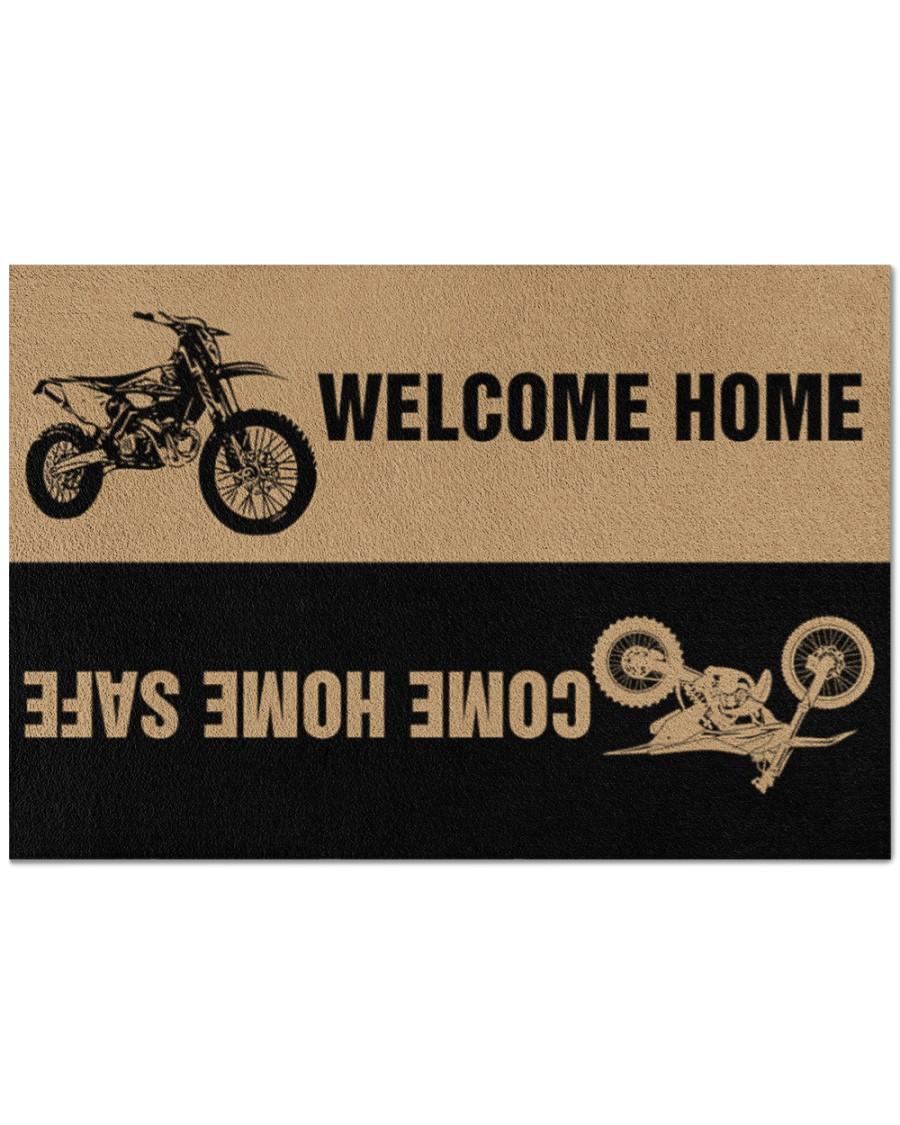 Motocross Welcome home Come home safe doormat 1