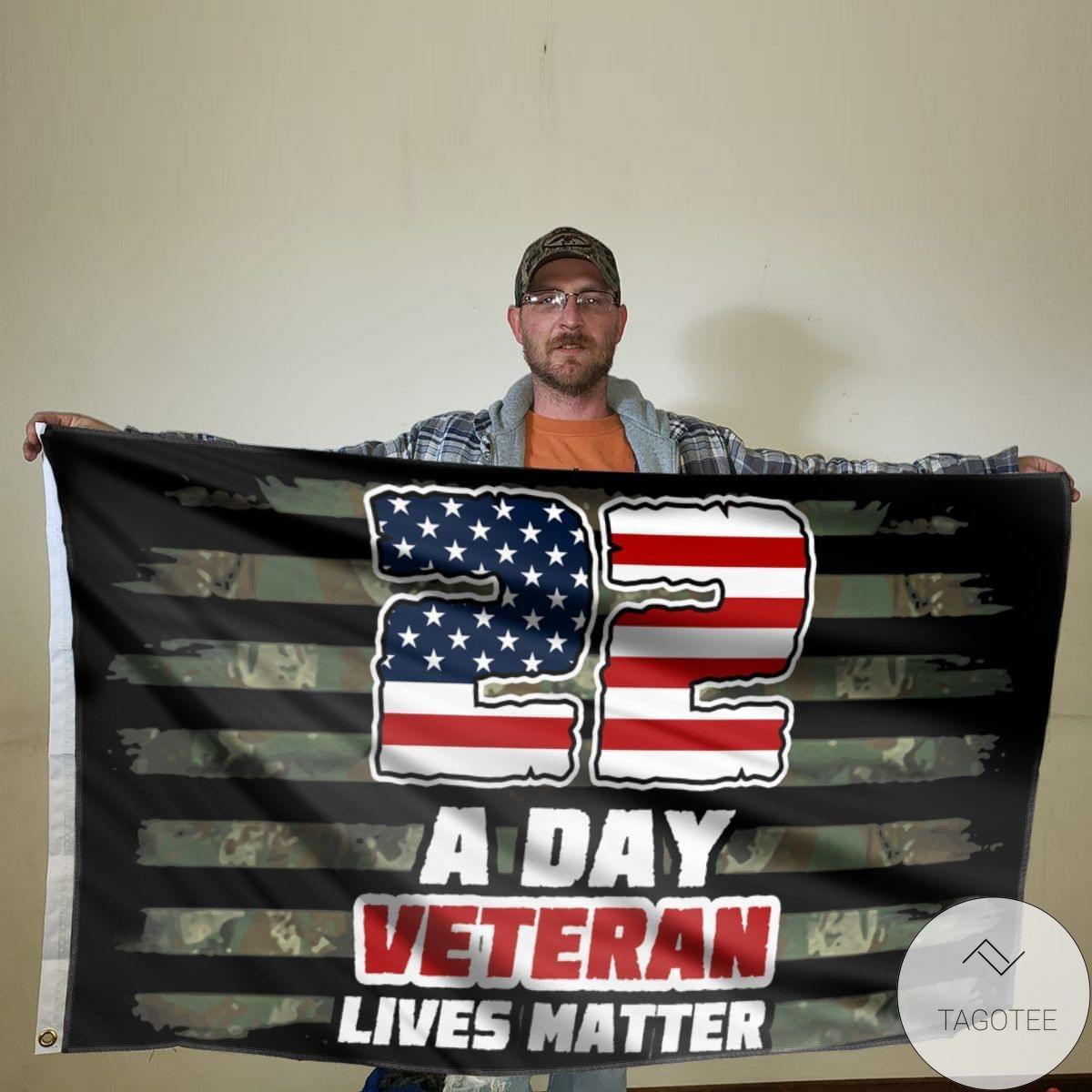 US Shop 22 A Day Veteran Lives Matter Flag