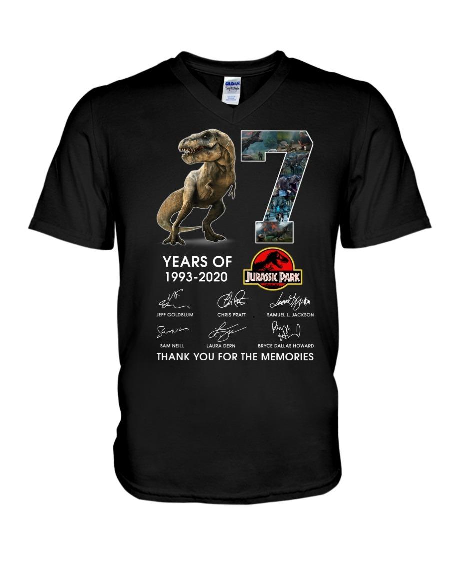 27 Years of Jurassic Park 1993-2020 V-neck