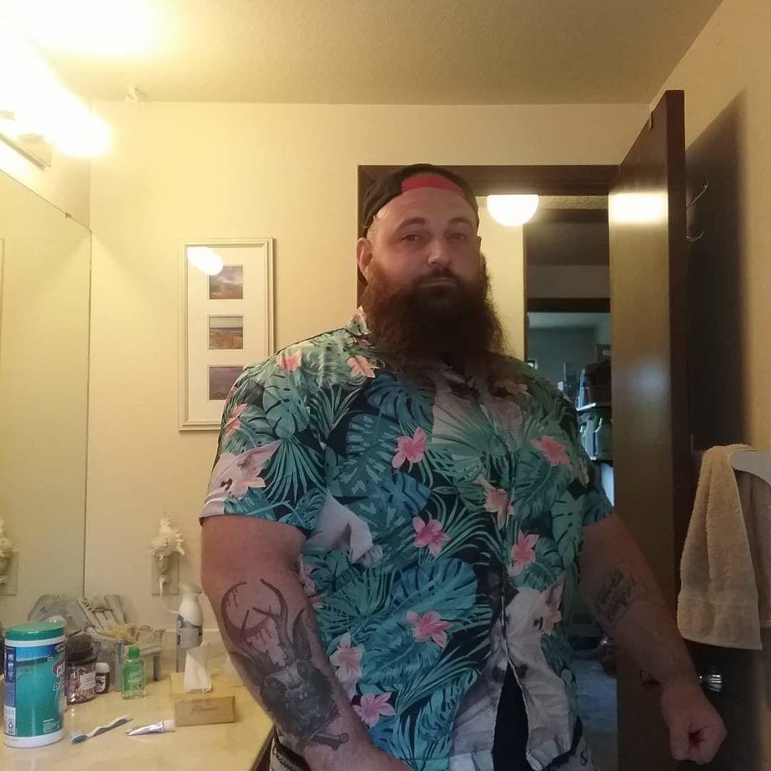 Bull Terrier Dog Tropical Pattern Hawaiian Shirt photo review