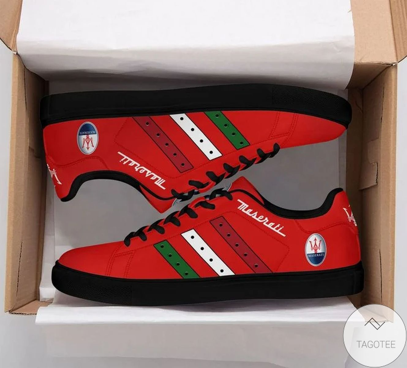 Maserati Red Stan Smith Shoes