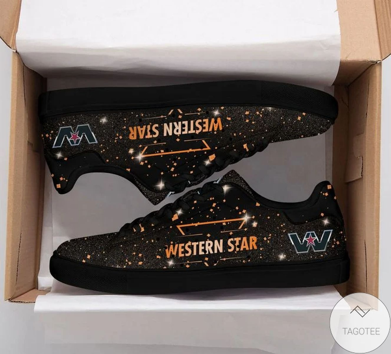 Western Star Glitter Stan Smith Shoes
