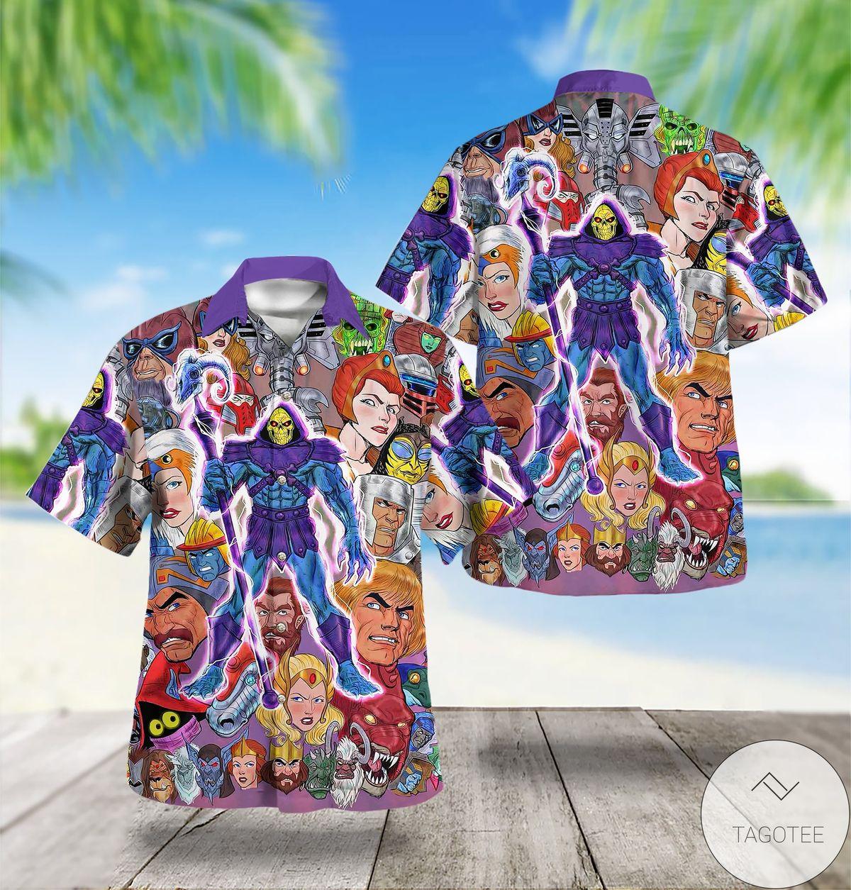 80s Cartoon Characters Hawaiian Shirt