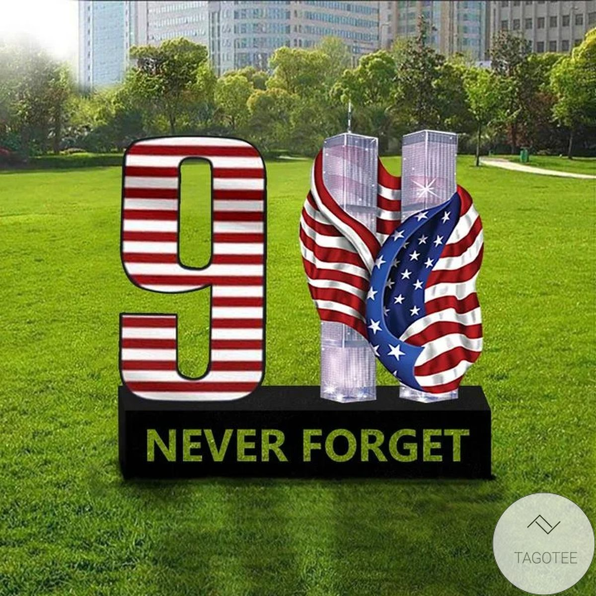 9.11 Never Forget Remembering September 11 2021 Patriot Day Two Tower Attacks Yard Sign