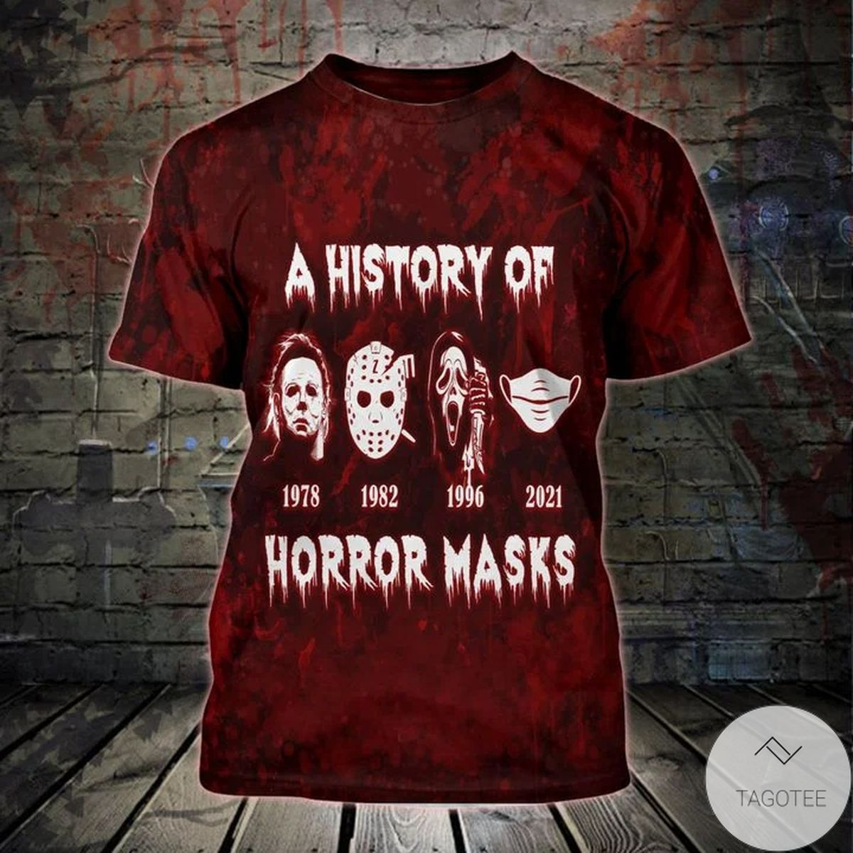 Fast Shipping A History Of Horror Masks 3d T-shirt