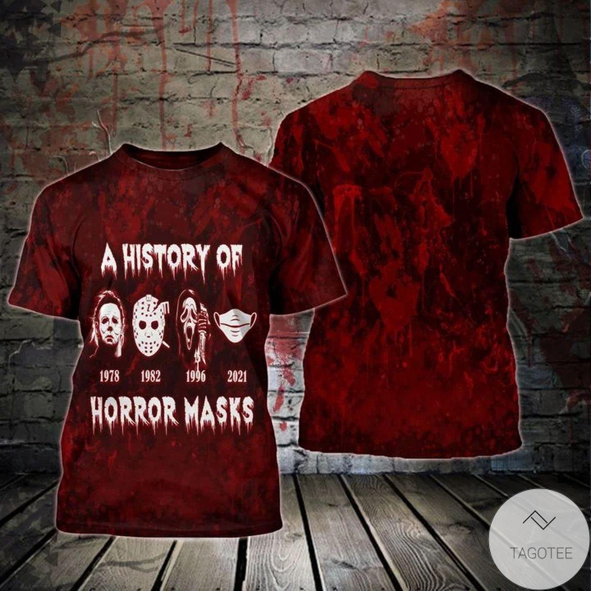 A History Of Horror Masks 3d T-shirt