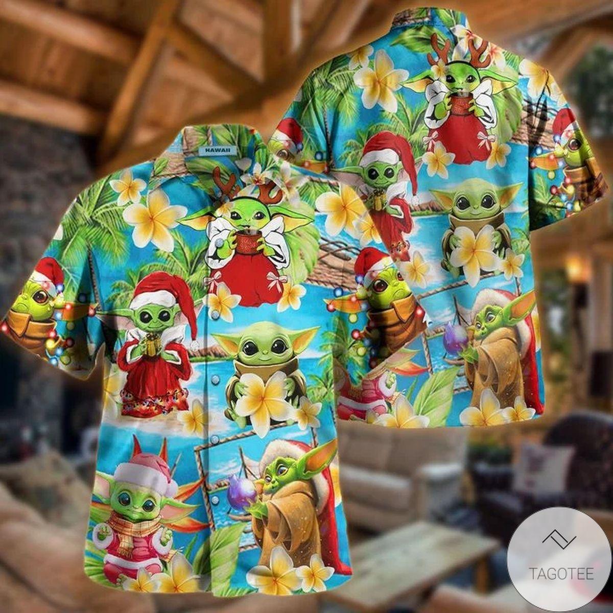 A Merry Christmas I Wish You Yoda Hawaiian Shirt