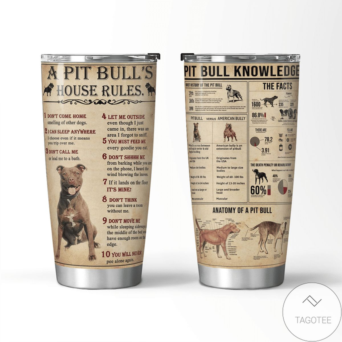 A Pit Bulls House's Rules Pit Bulls Knowledge Tumbler