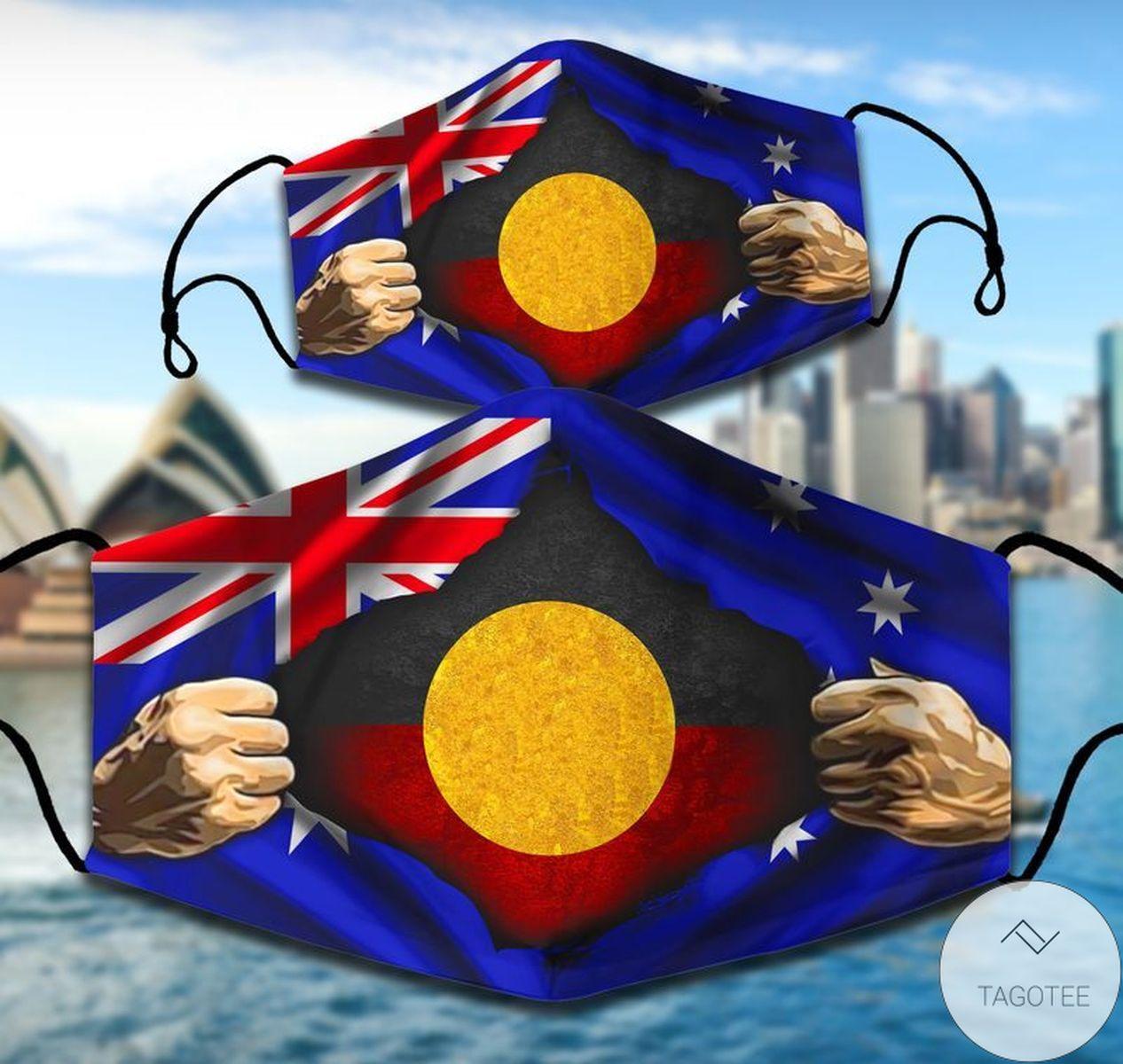 Aboriginal Australia Flag Face Mask