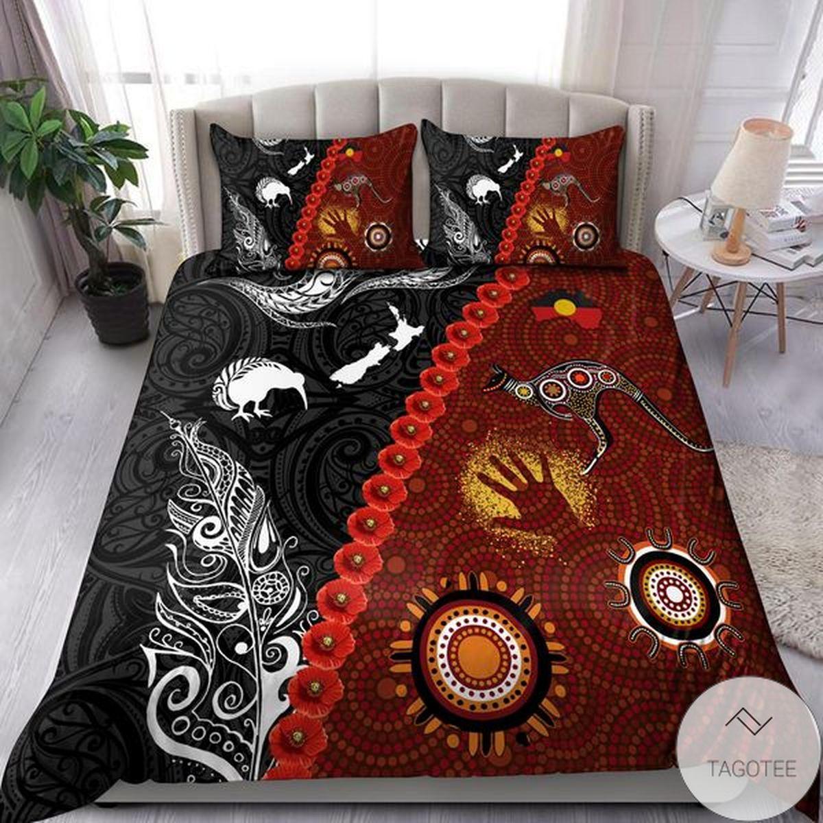 Aboriginal Australia Kangaroo Bedding Set