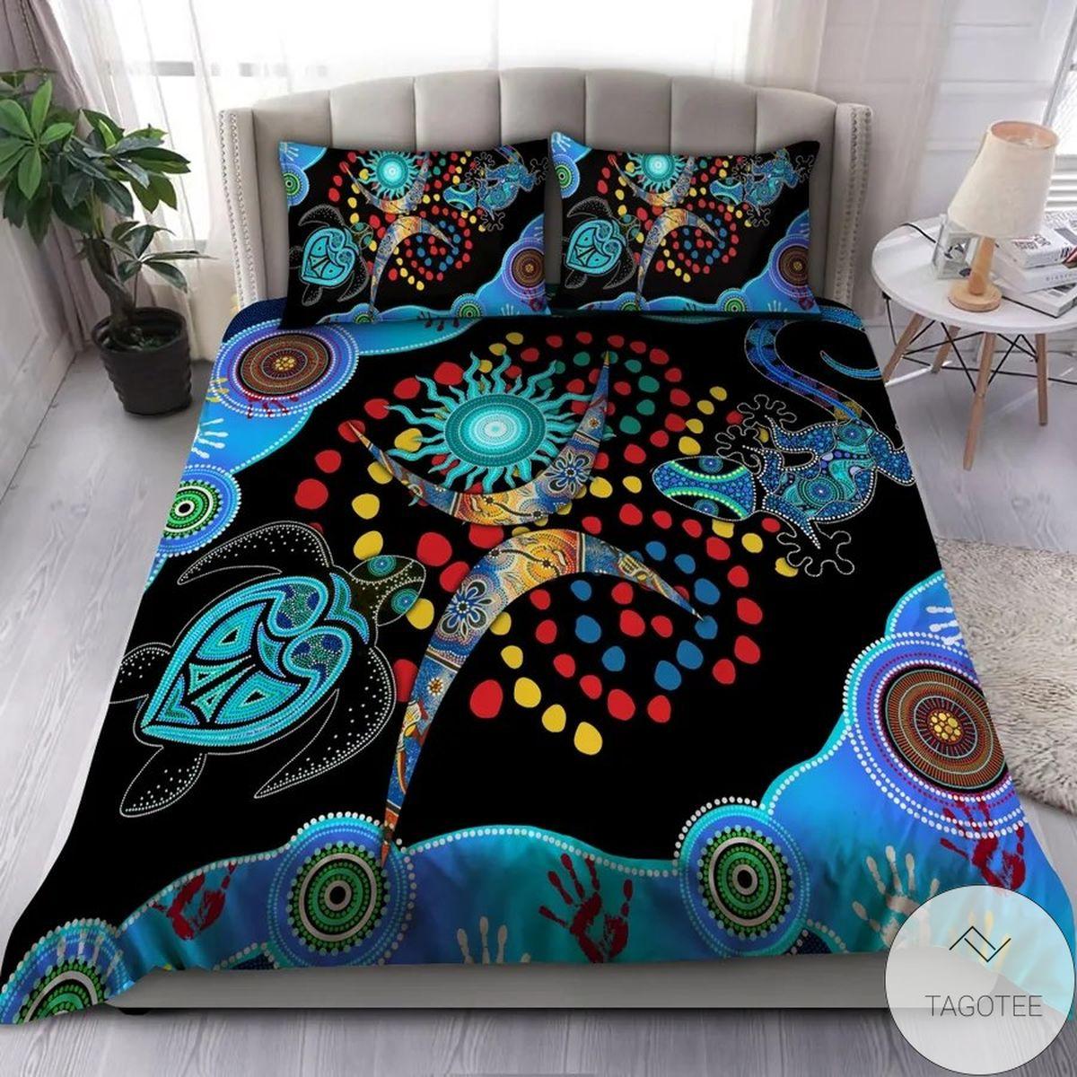 Aboriginal Australia Turtles Bedding Set