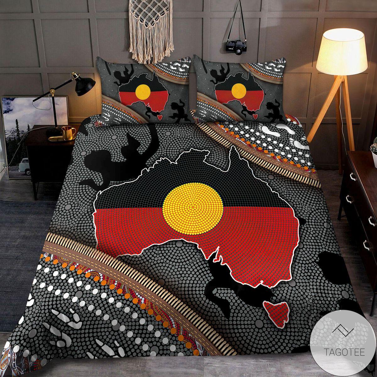 Only For Fan Aboriginal Dots Zip Pattern 3d Bedding Set
