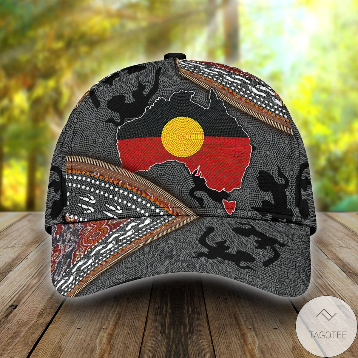 Aboriginal Dots Zip Pattern 3d Cap
