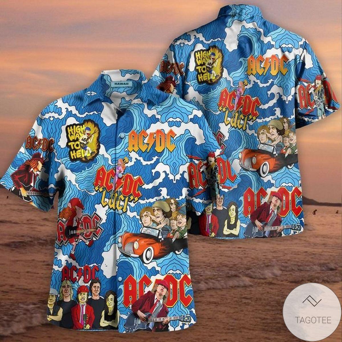 Ac Dc Highway To Hell Hawaiian Shirt