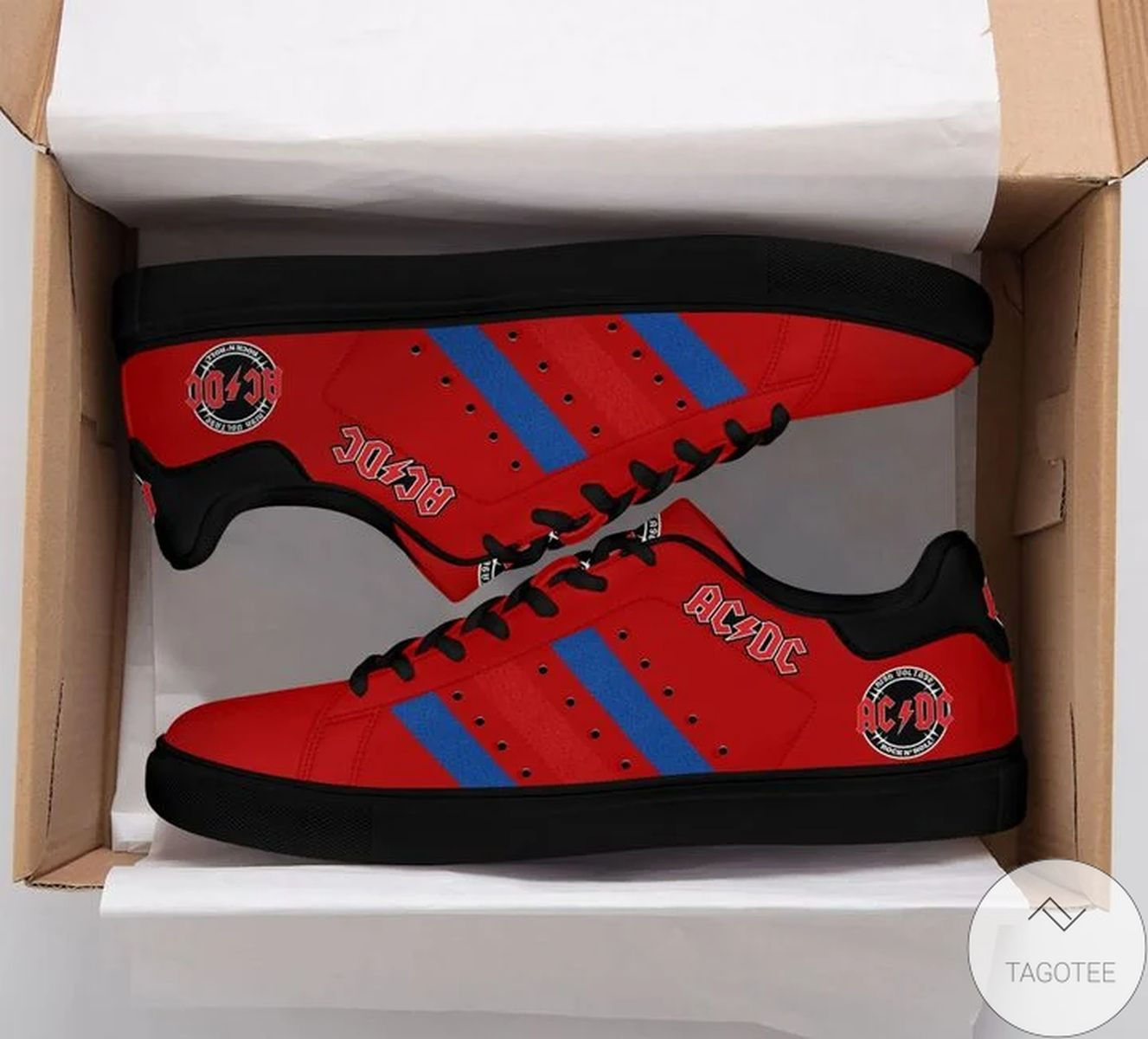 Ac Dc Red Stan Smith Shoes