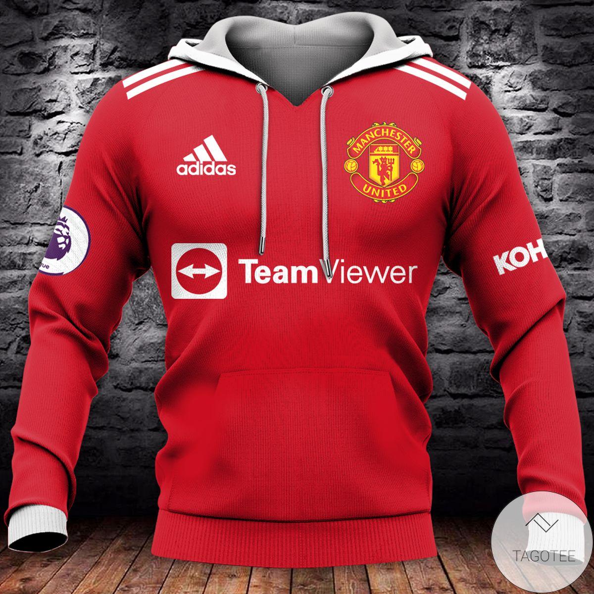 Adidas Manchester United Teamviewer 3d Hoodie