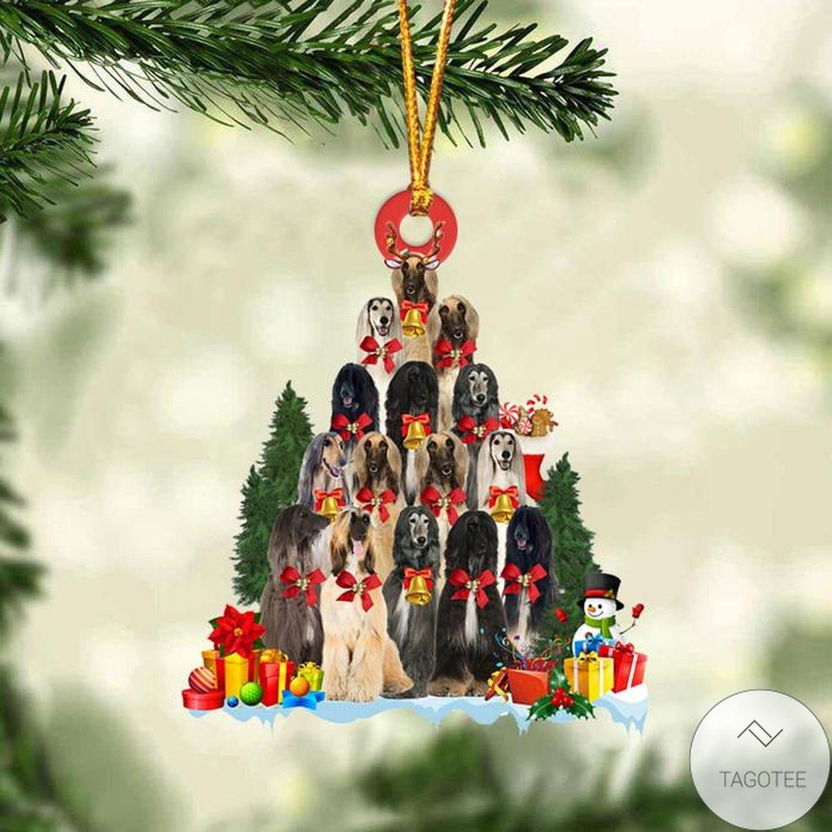 Afghan Hound Dog Christmas Tree Ornament