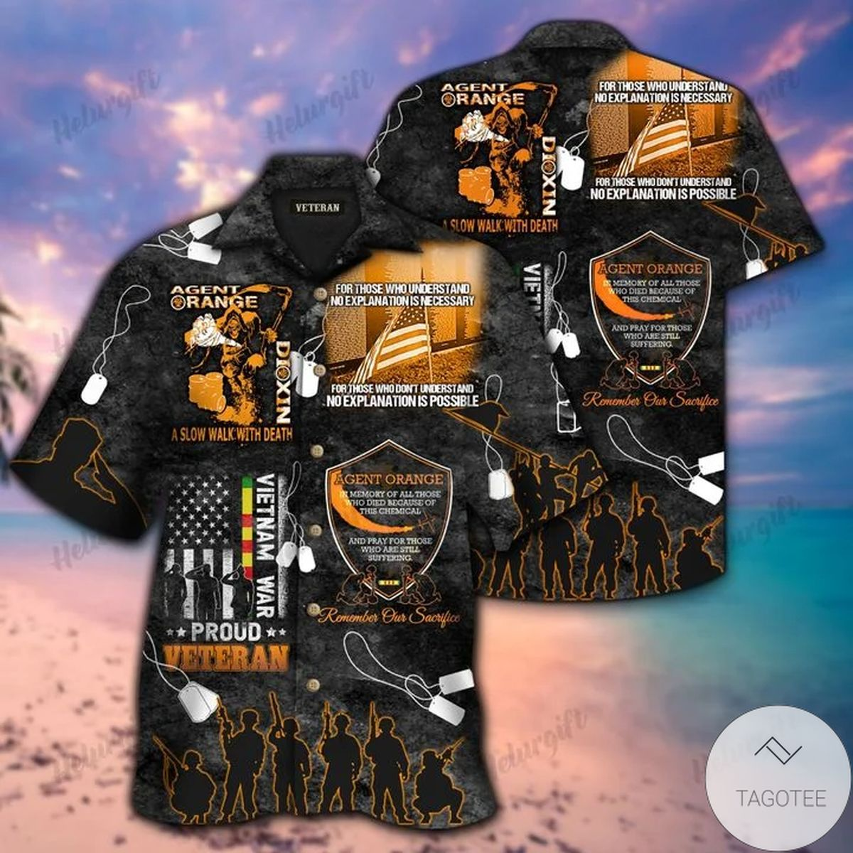 Agent Orange Vietnam Veteran Memorial Hawaiian Shirt