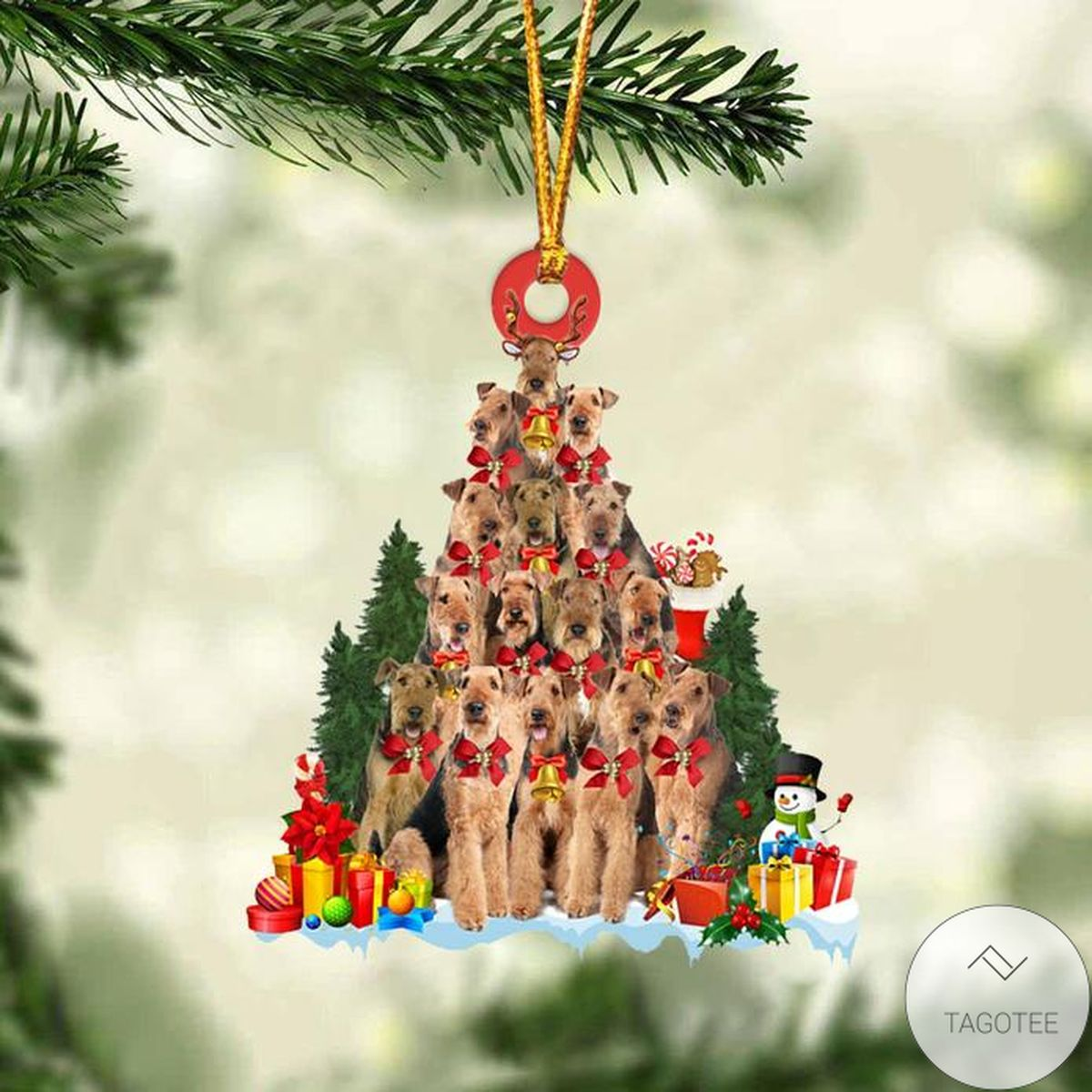 Gorgeous Airedale Terrier Dog Christmas Tree Ornament