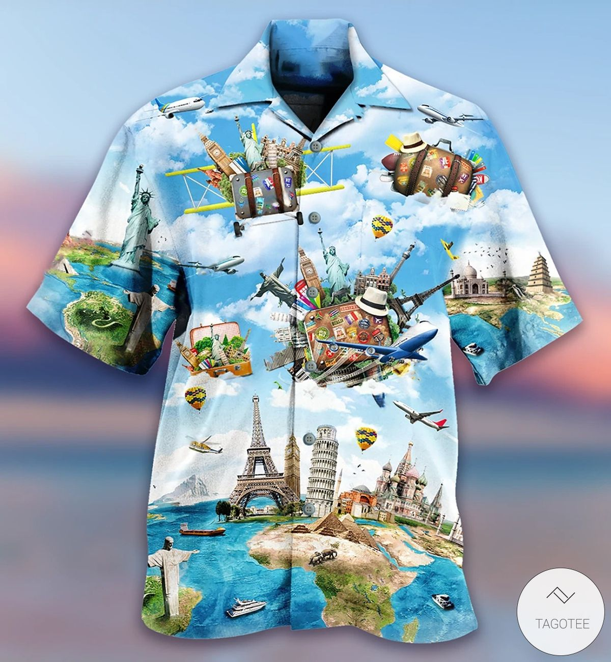Airplanes Travel All The World Hawaiian Shirt