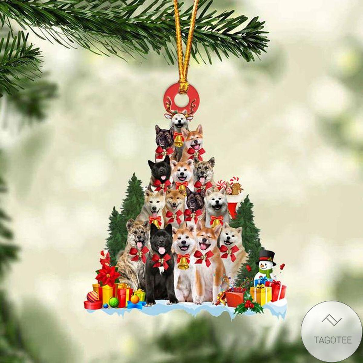 Akita Dog Christmas Tree Ornament