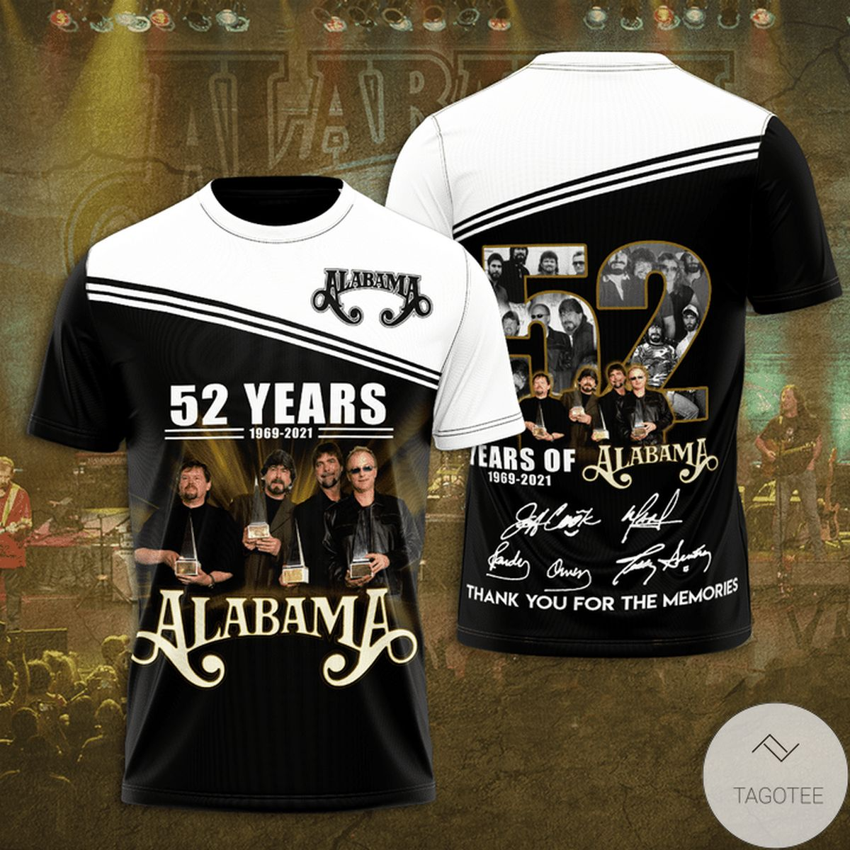 Alabama 52 Years Anniversary Thank You For The Memories 3d Shirt